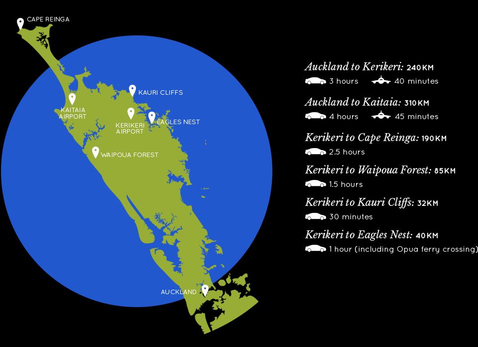Northland map